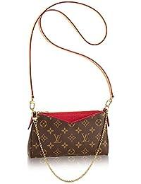 Louis Vuitton Auténtico Monogram lienzo Pallas embrague bolso Cherry artículo: m41638 fabricado ...