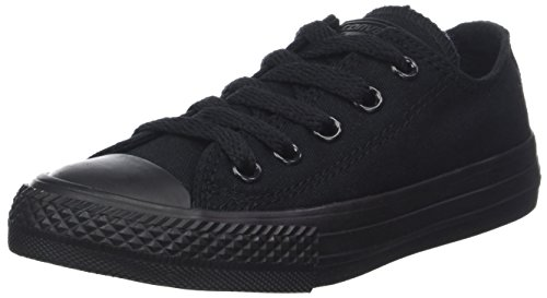 Converse Unisex-Kinder CT OX Black Mono Fitnessschuhe, Schwarz Monochrome 006, 33 EU - Ox Black Monochrome