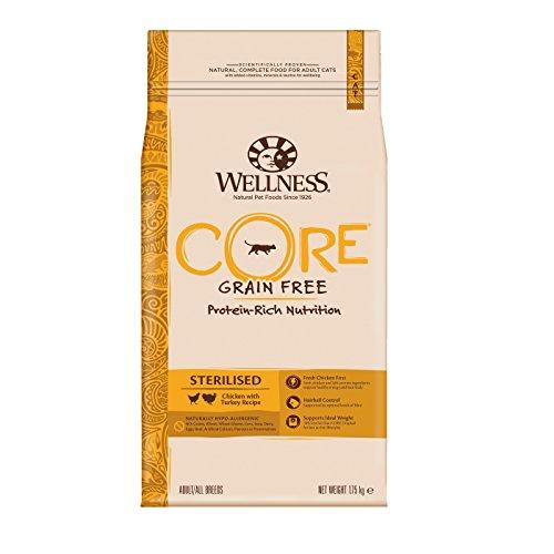 Wellness CORE Sterilised / Katzenfutter Trocken / Getreidefrei / Hoher Fleischanteil / Huhn mit Pute, 1,75 kg