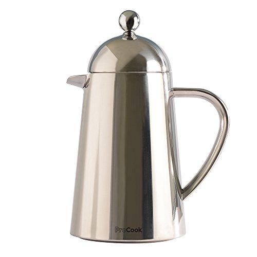 ProCook Kaffeebereiter aus Edelstahl, doppelwandig, kegelförmig, 6 Tassen / 600 ml -