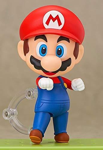 rio Bros Wii Figur Mario # 473 / Luigi # 393 Actionfigur Nendoroid Party Dekoration Spielzeug 10cm KT3282, A ()