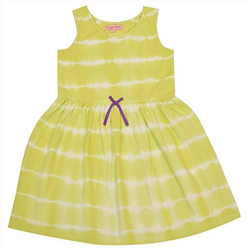crayonflakes Bambini indossare per le ragazze 100% cotone senza maniche Tie & Dye/Dress giallo Yellow 10-11 Years