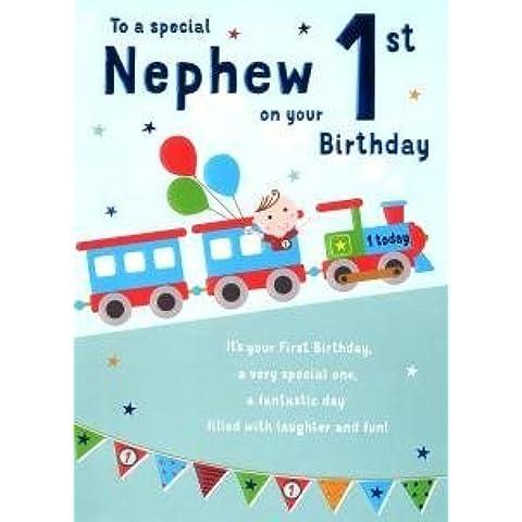 Grande Especial Nephew 1st Tarjeta de cumpleaños Edad uno