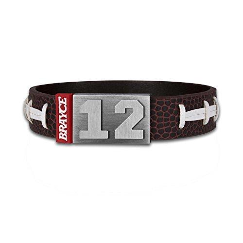 BRAYCE® American Football Armband mit Deiner Trikot Nummer 00-99 I bekannt aus der #ranNFL Show
