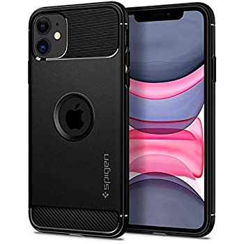 Spigen Rugged Armor, Designed for iPhone 11 Case (2019) - Black