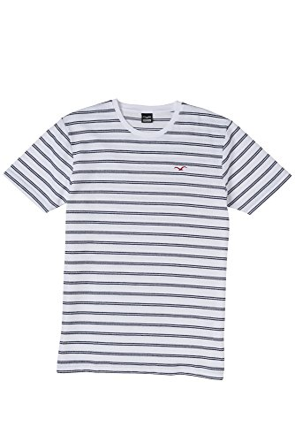 Cleptomanicx Double Stripe T-Shirt Größe: S Farbe: White (Double Stripe Shirt)