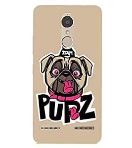 For Lenovo K6 Power team pupz, good quotes, dog, khaki background Designer Printed High Quality Smooth Matte Protective Mobile Case Back Pouch Cover by APEX