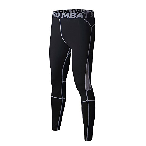 Felicon® pantaloni da ginnastica da uomo sportivo di uomo da uomo a compressione indossare abiti da allenamento ad asciugatura rapida traspirante confortevole leggings base fitness pantaloni termici