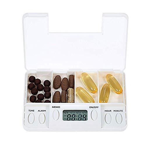 XZLBY Tragbar Automatische Pille Dispenser Medikamentenerinnerung Timer Wecker Alarm Essentiell Für Parkinson-Patienten