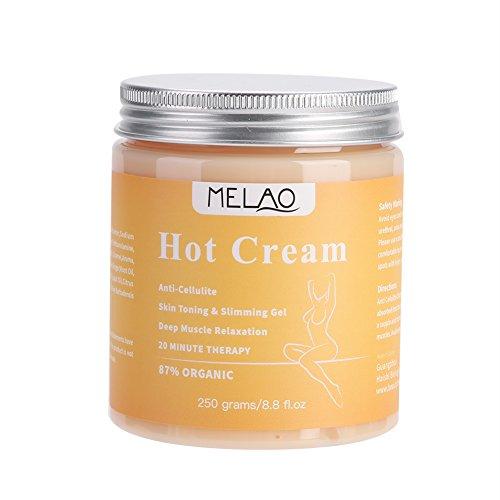 Crema Reductora, Aceite Natural Masajes, Gel Quemador Rápido, Hot Gel Adelgazante y Anticelulits Quema Grasas Abdominal Natural Potente Adelgazante