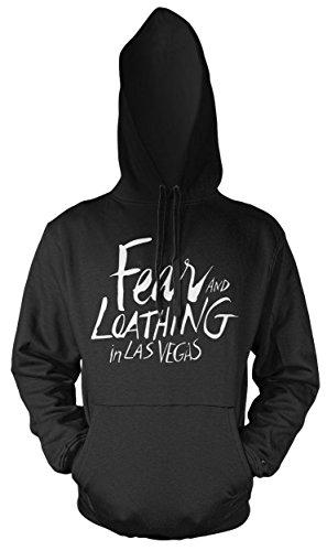 Uglyshirt89 Fear and Loathing in Las Vegas Männer und Herren Kapuzenpullover | Spruch Film Kostüm Geschenk (4XL, Schwarz)