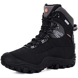 Botas de Mujer Senderismo,XPETI Zapatos Montaña Alpinismo Escalada Trekking Impermeables al Aire Libre Zapatillas Trail Calzado Altas Invierno Bajas Seguridad Negro 38