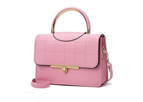 La nuova borsa a tracolla di Miss Han Banchao, sacchetto di mano di moda piccola piazza, le donne del messaggero piccola borsa Pink