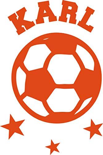 Aufbügler Bügelbild Applikatio Fußball mit Namen in Deiner Wunschfarbe von SupaRina, 10-20 cm P