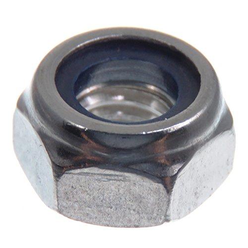 SECCARO Sicherungsmutter M8, Edelstahl V2A VA A2, DIN 985 / ISO 10511, Sechskant, 20 Stück