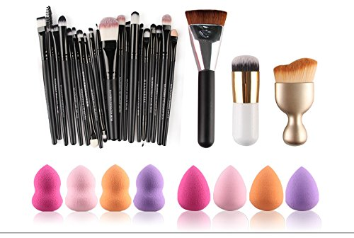TOPBeauty Pro 23pcs makeup brush With 10pcs Powder Puff