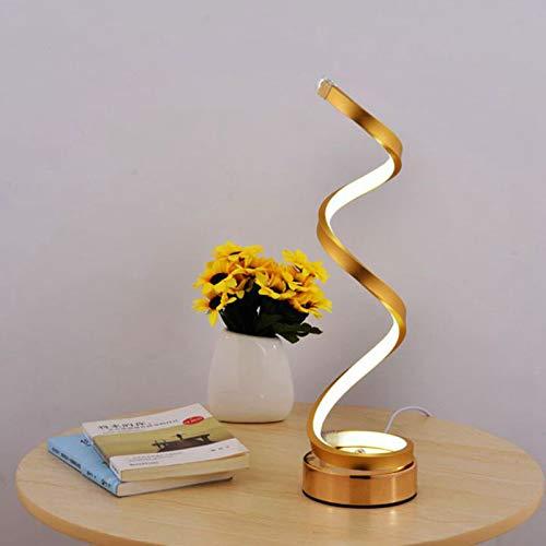 COTZFDE Augengeschützte LED Schreibtischlampe Acryl Spiral Arc Tischleuchte für Schlafzimmer Wohnzimmer Wohnkultur Cool White US Plug -