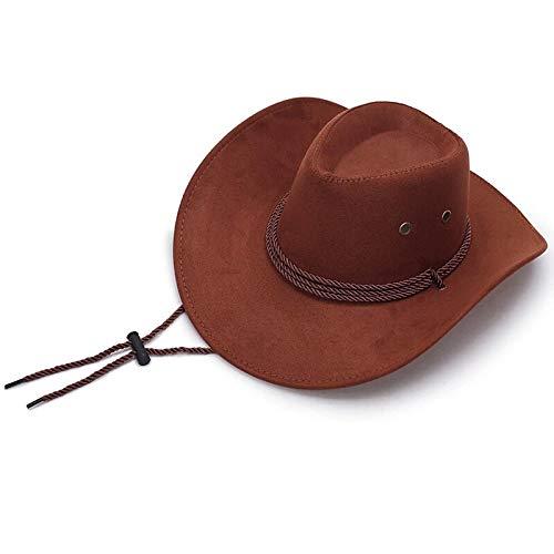 thematys Cowboy Hut in braun - Cowboy Hut Kostüm für Erwachsene perfekt für Karneval, Halloween & Cosplay
