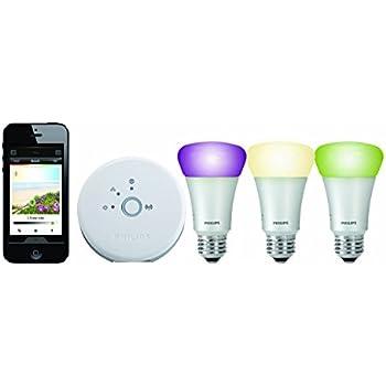 philips hue personal wireless lighting starter kit 3 x a19 e27 led light bulbs 1 bridge