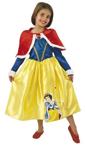 Princesas Disney - Disfraz de Blancanieves de Invierno para niña, infantil 3-4 años (Rubie's 887091-S)