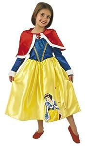 Princesas Disney - Disfraz de Blancanieves de Invierno para niña, infantil 5-6 años (Rubie