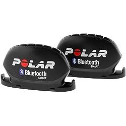 Polar Geschwindigkeits und Trittfrequenzsensor Bluetooth Smart Velocidad y Sensor de cadencia, Unisex, Negro, 2 Unidades