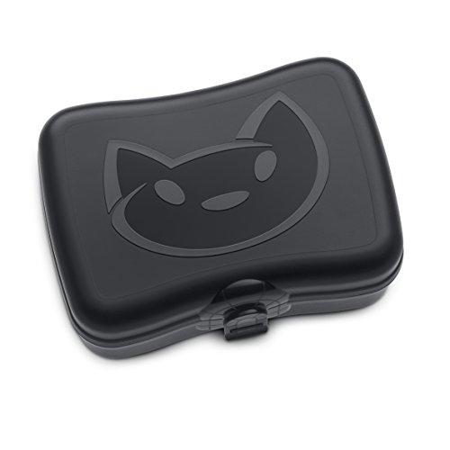 koziol Lunchbox Miaou, Kunststoff, schwarz, 12.2 x 16.8 x 6.6 cm (Dosenöffner Raum)