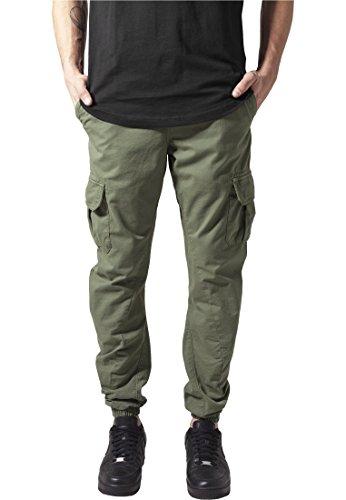 Cargo Jogging Pants Urban Classics Streetwear Pantalon Shorts Hommes Olive