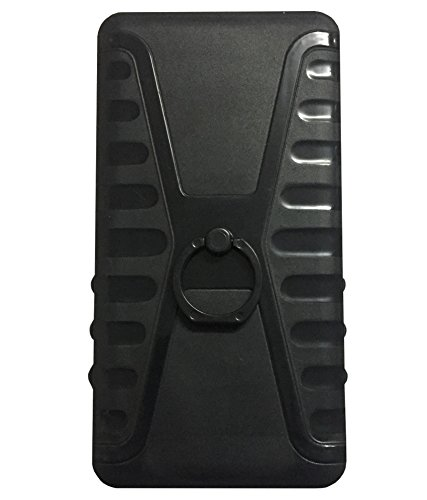 Zocardo Black Back Cover For Gionee Ctrl V4s with Back Ring stand for easy carrying of mobile  available at amazon for Rs.349