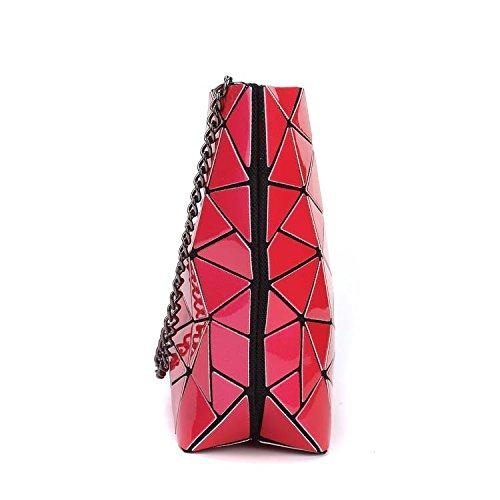 Flada, Borsa tote donna rosso Red medium Pink