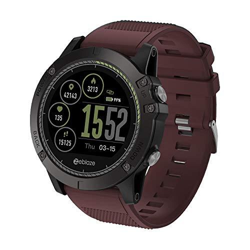 Zeblaze Vibe 3 HR Smartwatch, Hongtianyuan FitnessTracker, orologio da polso con cardiofrequenzimetro IP67 impermeabile Tracker attività Tracker Bluetooth Smart da polso (Rosso)