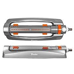 Bradas WL-Z22 Viereckregner 375 qm, Rasensprenger, Regner, Sprinkler, Bewässerung, Kreisregner, Grau, 10x5x5 cm