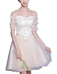 Mujer De Fiesta Floral Con Arco Cintura De Novia Coctel Corto Vestido