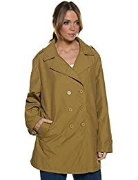 Ulla Popken Women's Plus Size Trendy Color Trench Coat 709260