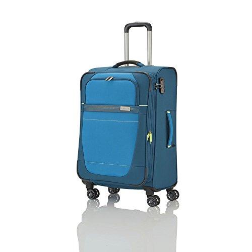 """Travelite Valise trolley """"Meteor"""" avec 4 roues Taille M pétrole Koffer, 66 cm, 69 liters, Blau (Pétrole)"""