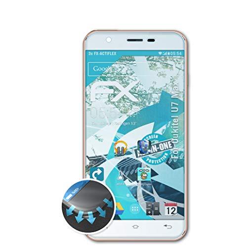 atFolix Schutzfolie passend für Oukitel U7 Max Folie, ultraklare & Flexible FX Bildschirmschutzfolie (3X)
