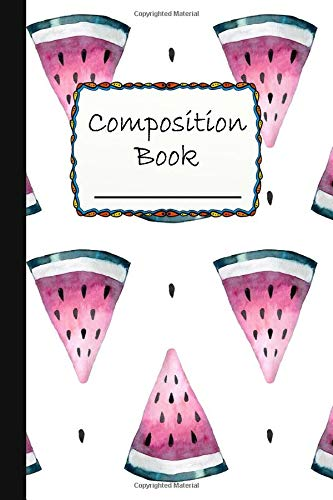 Composition Book: Amazing Melon Composition Book to write in - Wide Ruled Book - the big green and red fruit -