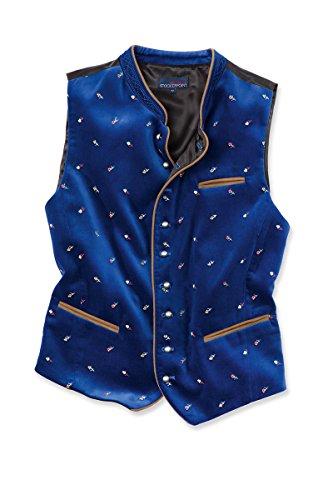 Stockerpoint Herren Trachtenweste blau mit Stick Calzado 114262 56 blau mit Stick