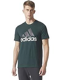 adidas Ess Linear Camiseta, Hombre, Verde (Vernoc), S