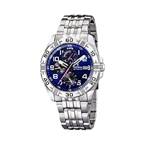 FESTINA F16494/3 - Reloj de caballero de cuarzo, correa de acero inoxidable color plata de FESTINA