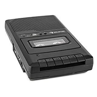 auna RQ-132USB Portable Cassette Recorder (with both Voice Recorder and Tape Recorder options, Micro)