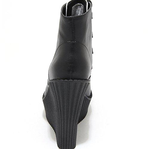 Ecopelle Ankle Boots Pelle Neri Shoes K Nero Donna Scarpe 1179M Tronchetti Bianco T U Women wvBq8Pf