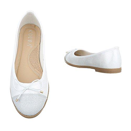 Ital-Design, Ballerine donna Weiß 9817