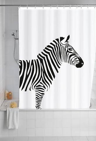 Wenko 20051100 Rideau de Douche en Textile Wild Anti Moisissure Dimensions 180x200 cm
