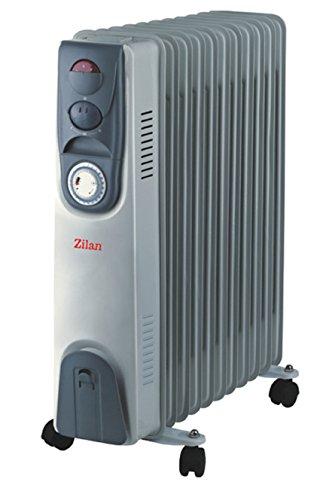 Öl Radiator 9 Rippen | Radiator Heizung | Elektroheizung | Heizkörper | Heater | Öl-Radiator | Ölradiator | Heizgerät | Paneelheizkörper | elektrische Mini Heizung | Überhitzungsschutz | 2.000 Watt -