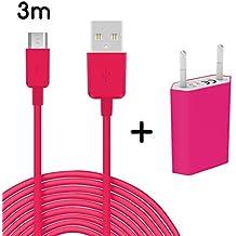 Original TheSmartGuard 2in1de Juego con Samsung Galaxy Grand Prime Cargador y Samsung Galaxy Grand Prime Cable de carga (3metros/3M)/Cable de datos/cable en rosa–Nuevo con cortavientos Cargador de lectura.