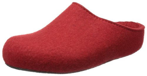 Haflinger Michl Grizzly, Chaussons mixte adulte Rouge - Rot (rubin 11)