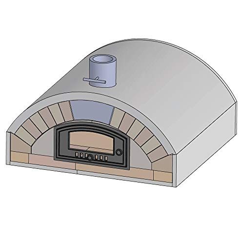 PUR Schamotte Merano mit Gusstür & Verkleidung, Pizzaofen Bausatz + Anleitung, Holzbackofen/Steinofen - Selber Pizzaofen