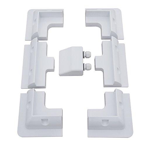 ECO-WORTHY Panel Solar cuatro esquina soporte y soporte lateral (precio: 36,36€)