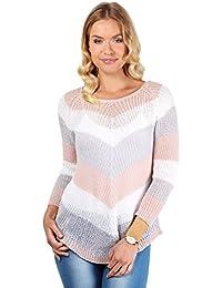 KRISP® Femmes Pullover à Rayures Style Bohème Casual